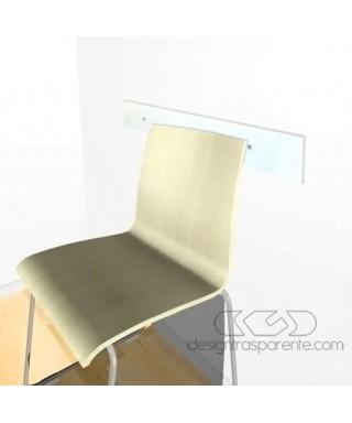 Fasce battisedia cm 99x30 paracolpi trasparente in plexiglass