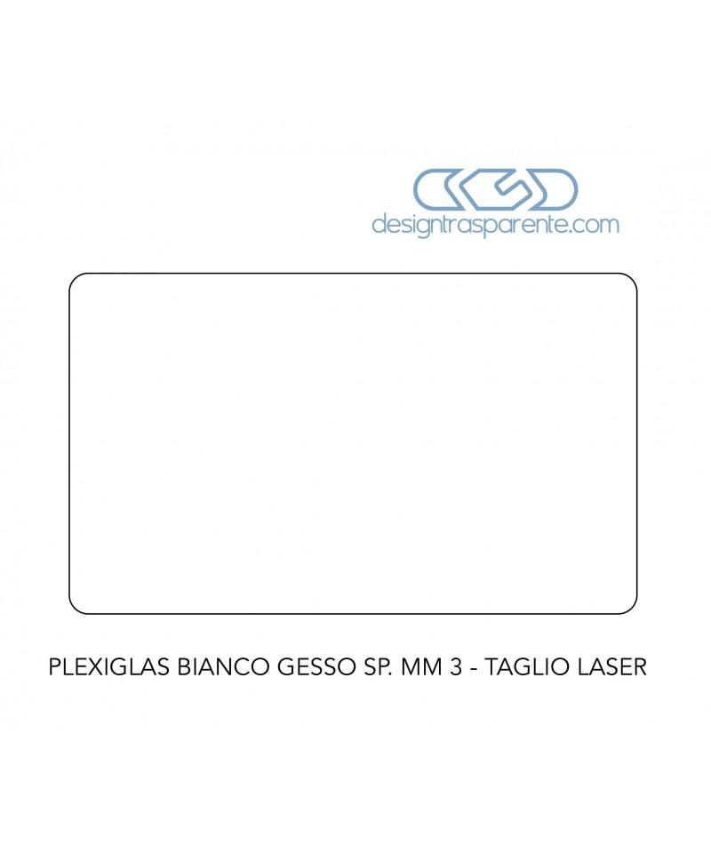 100 lastre plexiglass bianco gesso taglio laser su misura