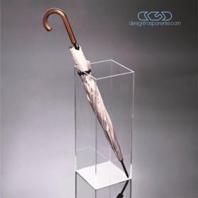 Portaombrelli cm 25x25h70 in plexiglass trasparente