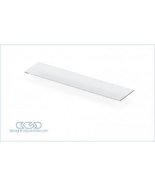 Mensola dritta cm 55 ripiano in plexiglass trasparente bordo lucido