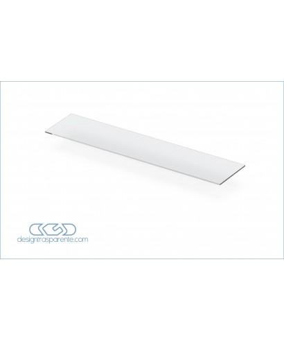 Mensola SU MISURA cm 132x27 ripiano dritto in plexiglass trasparente