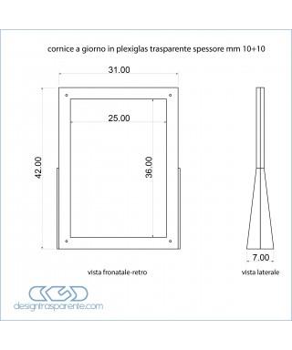 Cornice a giorno SU MISURA verticale da tavolo cm 31x49