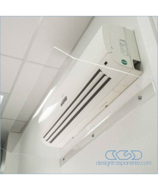 OFFERTA 2 deflettori 70 cm in plexiglass trasparente o bianco- deviatori per aria condizionata