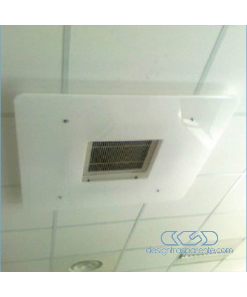 Deflettore est 90 int 50 deviatore flusso aria da soffitto in plexiglass bianco