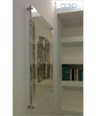 Cornice cm 70x100 a giorno in plexiglass con distanziali SU MISURA