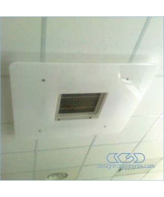 Deflettore est 90 int 37 deviatore flusso aria da soffitto in plexiglass bianco