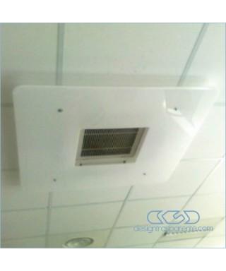 Deflettore est 85 int 40 deviatore flusso aria da soffitto in plexiglass bianco