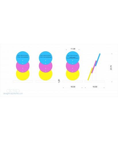 3 Trofei in plexiglass su misura con personalizzazione - persico