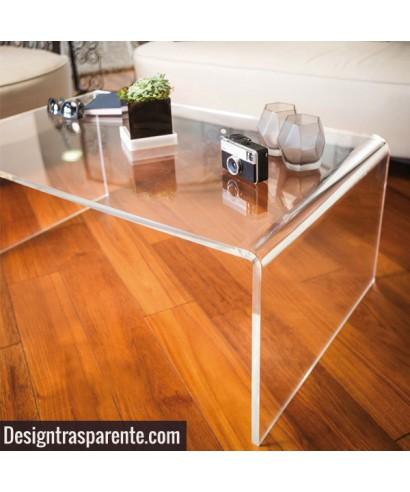 Tavolini Da Salotto Plexiglass.Tavolino A Ponte 100x100h55 Da Salotto In Plexiglass Trasparente