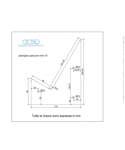 2 sagome in plexiglass trasparente taglio laser su misura
