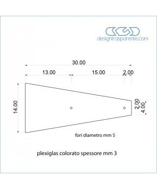 6 Palette di plexiglass colorato taglio laser su misura come da disegno