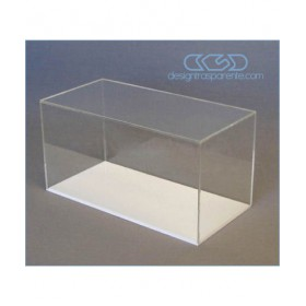 Acrylic display box 55x25 transparent for hobby model building Lego
