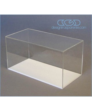 Acrylic display box 80x25 transparent for hobby model building Lego