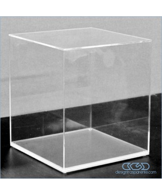 Acrylic display box 70x45 transparent for hobby model building Lego