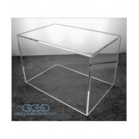 Acrylic display box 75x30 transparent for hobby model building Lego