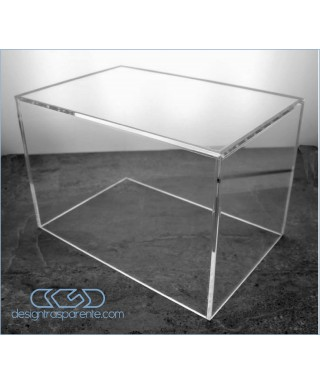 Acrylic display box 40x10 transparent for hobby model building Lego