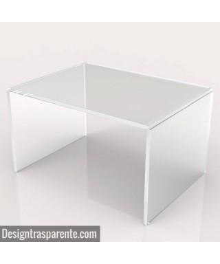 Tavolino a ponte 85x50h45 da salotto in plexiglass trasparente