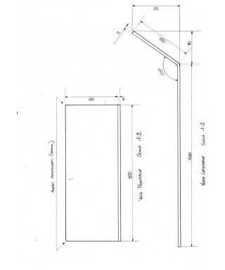 Pannello di plexiglass nero taglio laser su misura una piega