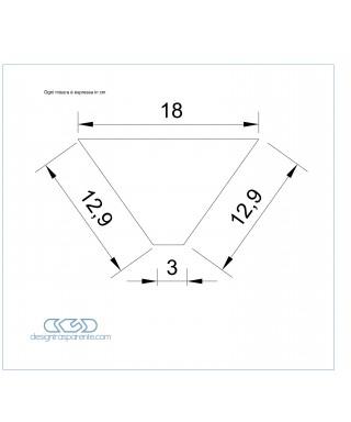 4 Sagome di plexiglass su misura taglio laser