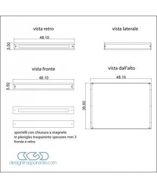 Supporto in plexiglass trasparente 10 mm realizzato su misura