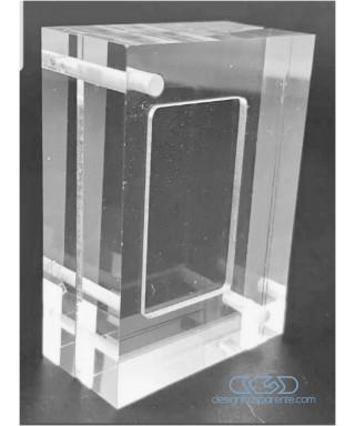 Cornice contenitore modello sandwich in plexiglass trasparente