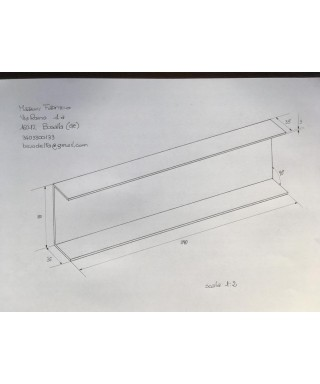 Supporto a C su misura in plexiglass nero Mazzoni