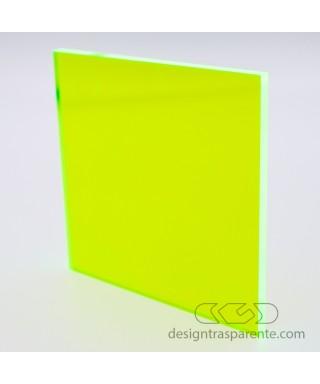 Lastra plexiglass fluorescente giallo acido 92205 acridite su misura
