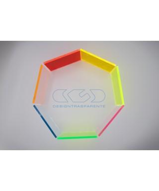 Lastra plexiglass fluorescente azzurro 92610 acridite su misura