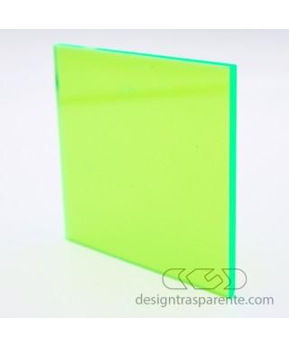 Lastra plexiglass fluorescente verde 92231 acridite su misura
