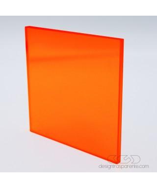 Lastra plexiglass fluorescente rosso 92362 acridite su misura