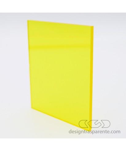 Lastra plexiglass giallo trasparente 720 acridite su misura