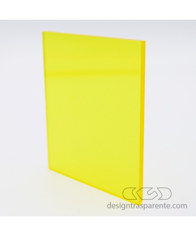 720 Transparent Yellow Acrylic – customised sheets and panels