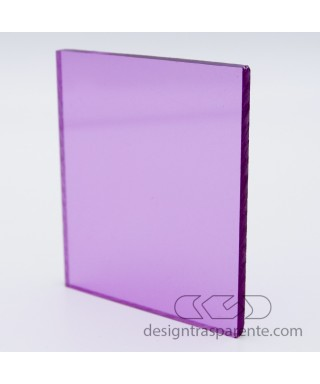 412 Transparent pink lilac Methacrylate – customised sheets and panels