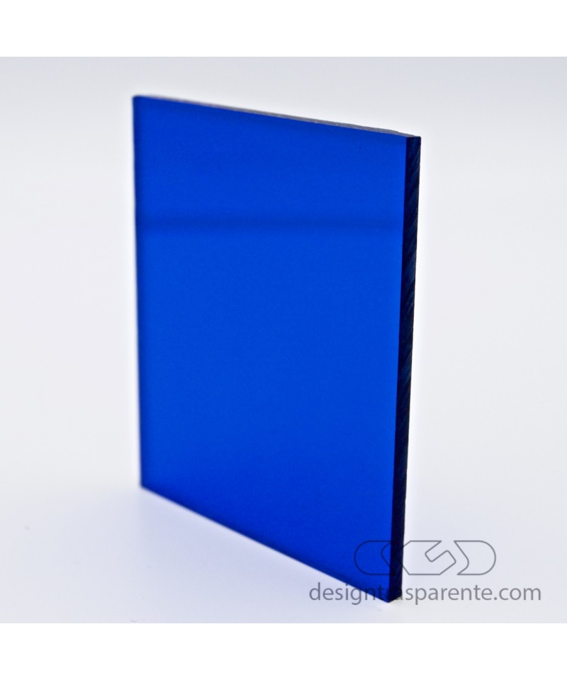 Lastra plexiglass blu trasparente acridite 520 su misura