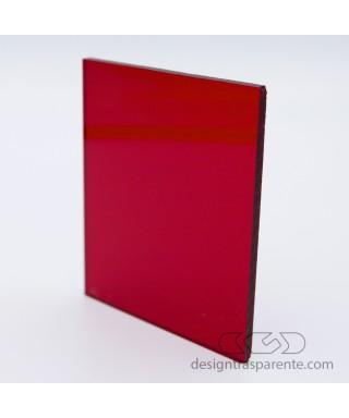 Lastra plexiglass rosso trasparente acridite 320 su misura