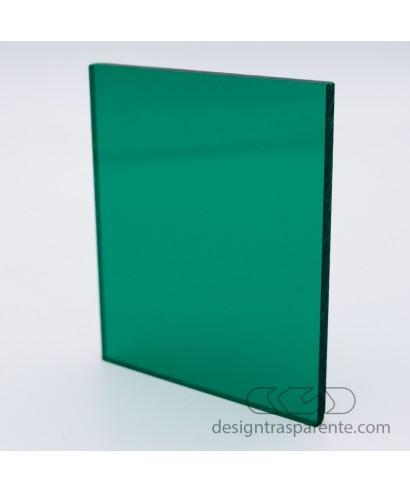 Lastra plexiglass verde bottiglia trasparente 220 acridite su misura