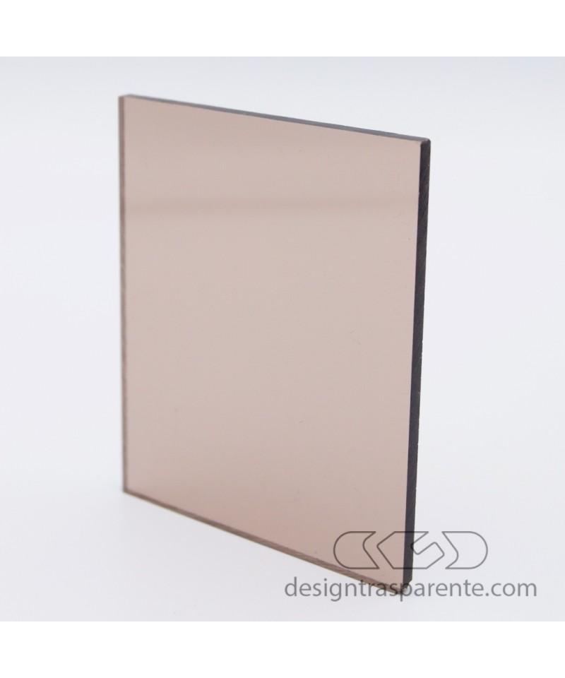 Lastra plexiglass fumè marrone medio trasparente 912 acridite su misura