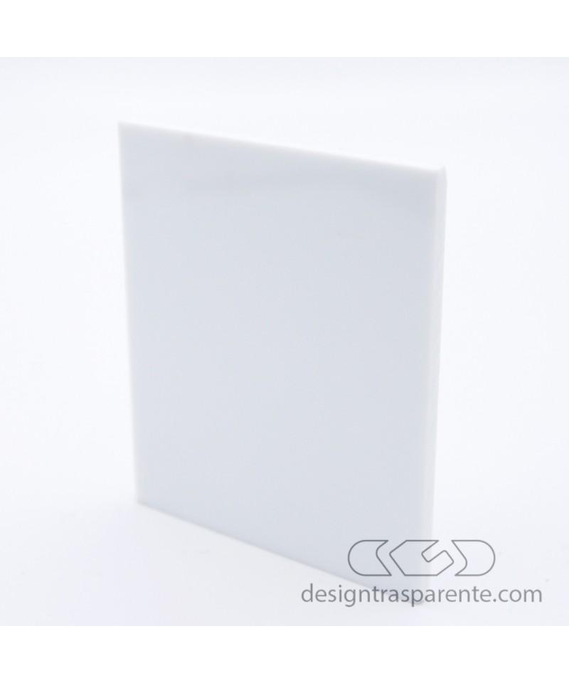Lastra plexiglass bianco coprente - gesso acridite 190 - su misura