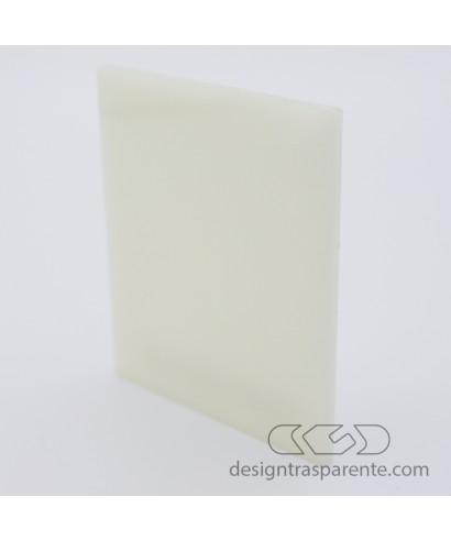 Lastra plexiglass bianco avorio crema chiaro acridite 771 su misura