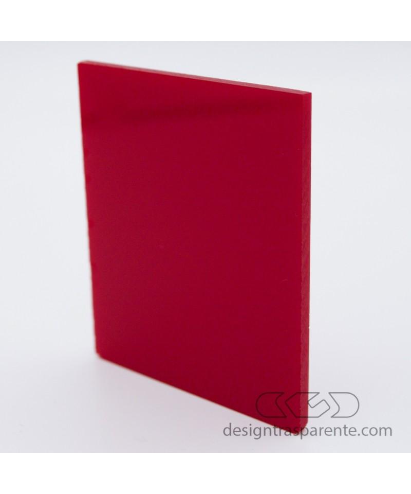Lastra plexiglass colorato rosso pieno acridite 332 su misura