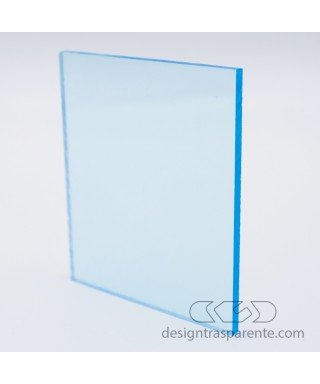 Cast Acrylic sheets and Perspex panels do not discolour and have excellent resistance to bad weather, Transparent light blue 610