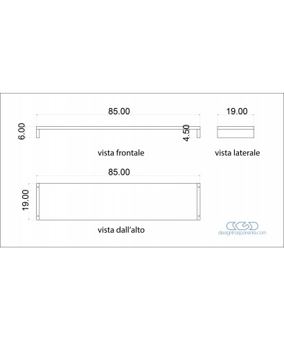 Supporto SU MISURA alzata monitor tv lcd plasma in plexiglass 85X19H6