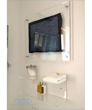 Cornice cm 35x35 a giorno in plexiglass con distanziali