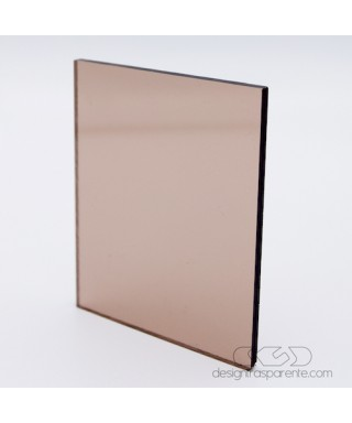Plexiglass colorato fumè marrone trasparente 912 acridite cm 150x100