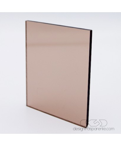 Plexiglass colorato marrone caramello diffusore acridit 932 cm 150x100