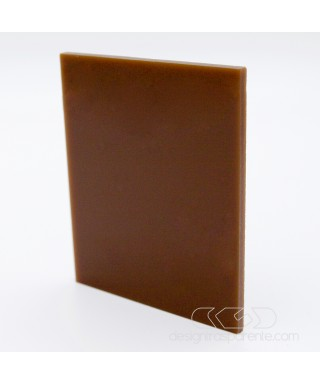 Plexiglass colorato marrone pieno acridite 851 cm 150x100