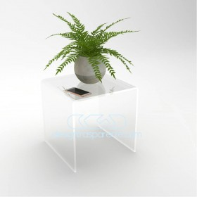 Acrylic coffee table cm 55x30 lucyte clear side table plexiglass