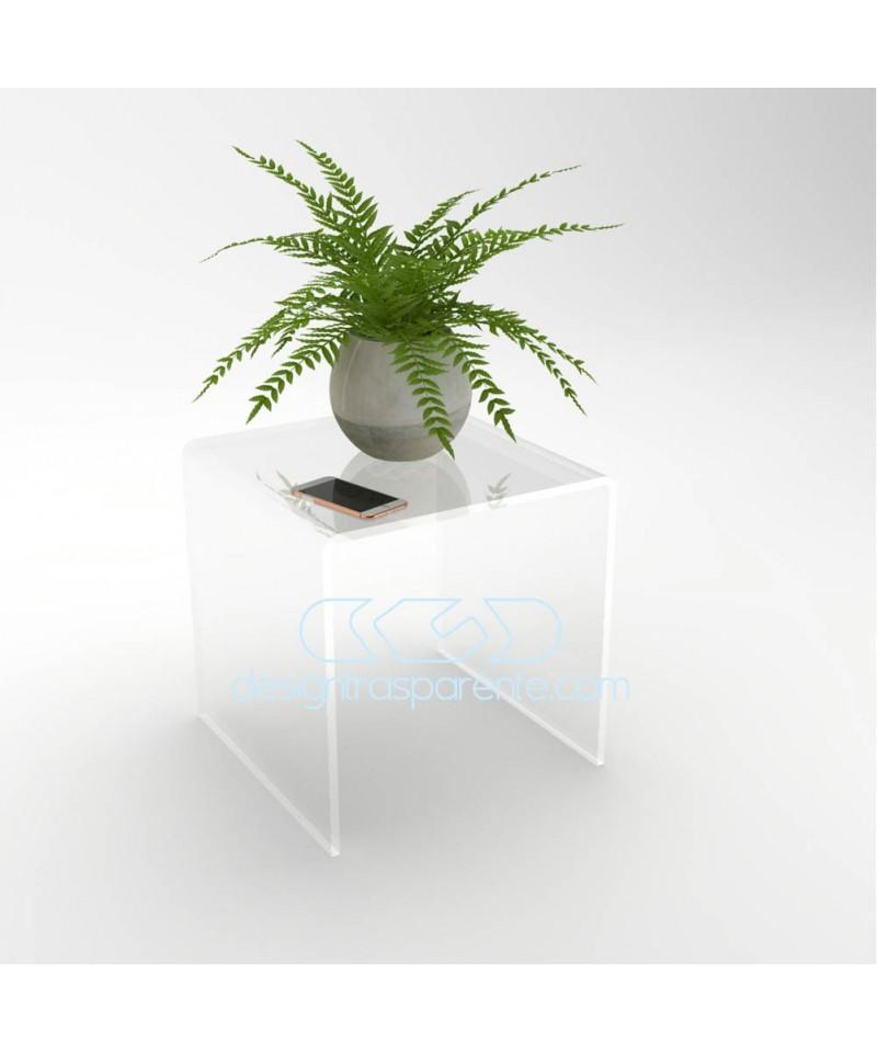 Tavolino a ponte cm 55x30 tavolo da salotto in plexiglass trasparente
