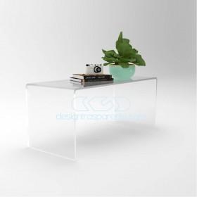 Acrylic coffee table cm 80x40 lucyte clear side table plexiglass