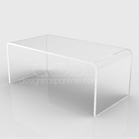 Mesa auxiliar cm 90x30 mesita baja de centro metacrilato transparente
